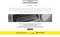 website Coffeee Company Short Novel Award door Alfabet Produkties