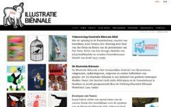 website Illustratie Biënnale door Alfabet Produkties
